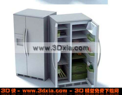 普通老式的冰箱3d模型