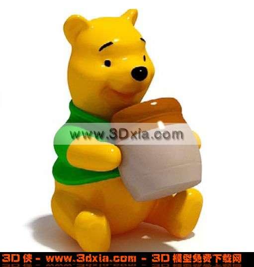 可爱的卡通熊玩具3d模型【id:1357】