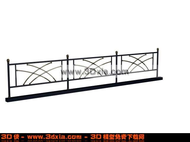 楼梯 效果图素材免费下载,本作品主题是普通好看的3d铁栏杆模型,编号