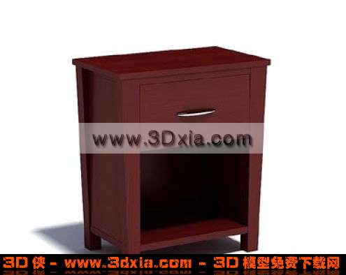 别致的3d红木柜子3d模型渲染效果图片