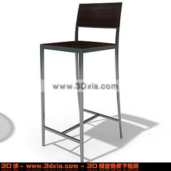 吧台椅模型_