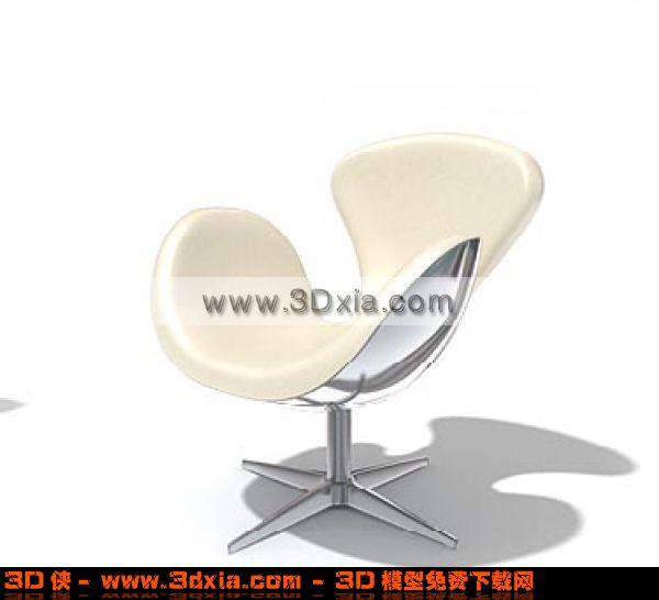可爱的椅子3d模型渲染效果图片
