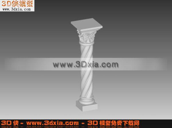 构件五金 建筑构件 欧式构件 3d罗马柱子模型下载3d模型【id:5416】