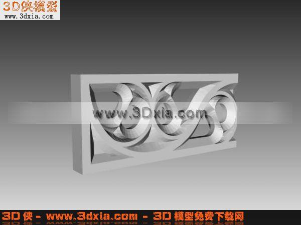 欧式镂空雕花3d模型-3d模型库-3d侠3d模型下载网