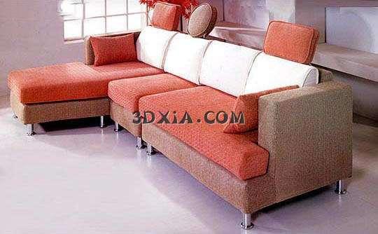 艺拐角沙发3d模型