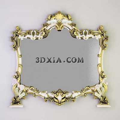 欧式镜子3d模型下载