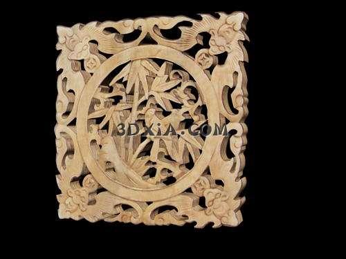 好看的中式木雕3d模型