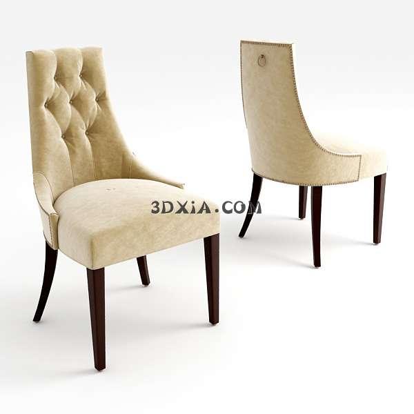 欧式椅子3d模型下载渲染效果图片