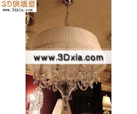 欧式灯3d模型-极品吊灯3d模型渲染效果图片