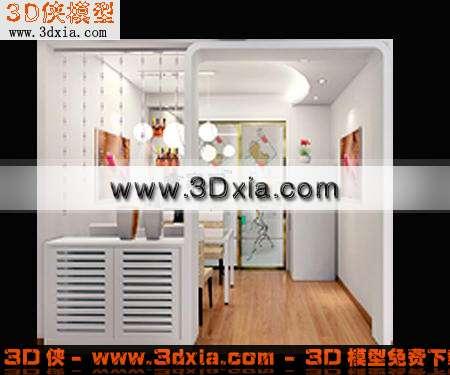 3d时尚前卫的玄关鞋柜-3d模型库-3d侠3d模型下载网