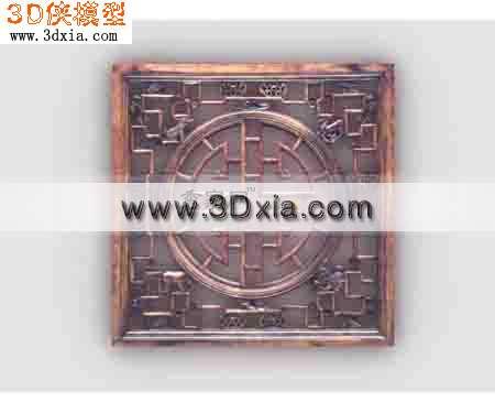 古典的中式窗花-3d模型库-3d侠3d模型下载网