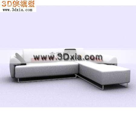 标准的拐角沙发3d模型