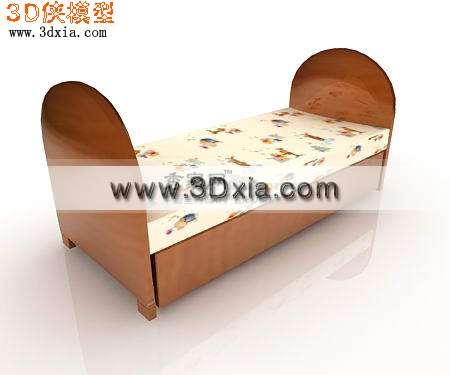 3d模型-儿童床-3d模型库-3d侠3d模型下载网