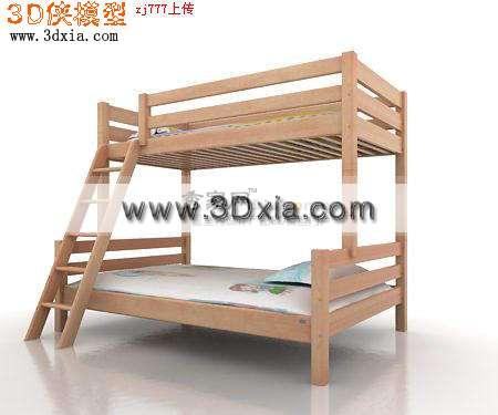 品质不错的儿童上下床3d模型