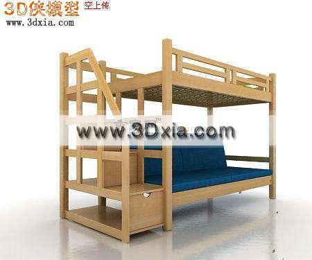 设计优良的儿童床3d模型