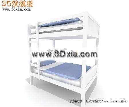 时尚的3d儿童上下床模型