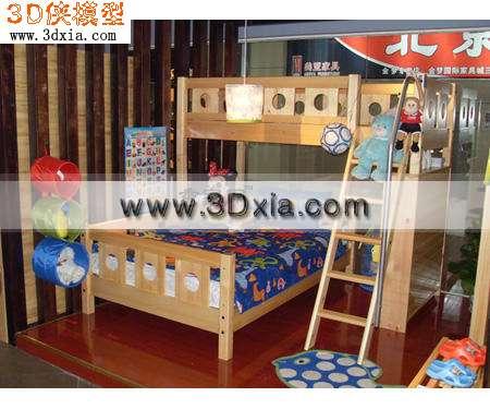 细致的儿童上下床3d模型