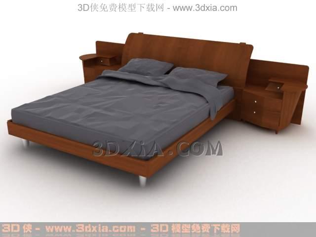 3d床-版本3dmax8-我渲的17