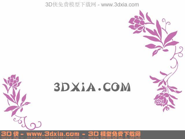陈设 墙饰挂件 墙绘 3d墙绘模型下载-27-使用版本3dmax83d模型【id:32