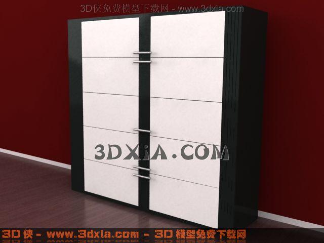 3d衣柜模型下载-10-使用版本3dmax8渲染效果图片