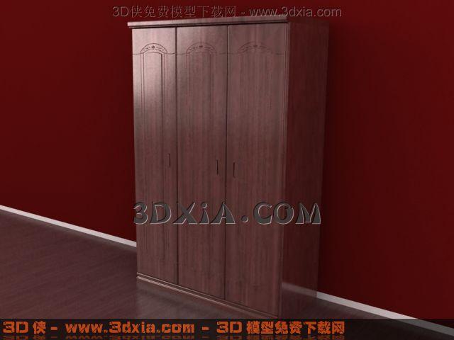 3d衣柜模型下载-19-使用版本3dmax8渲染效果图片