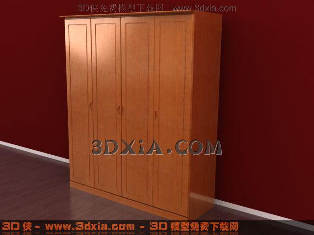 3d衣柜模型下载-23-使用版本3dmax8渲染效果图片