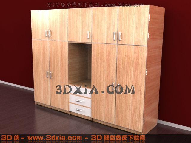 3d衣柜模型下载-25-使用版本3dmax8渲染效果图片