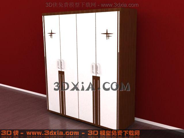 3d衣柜模型下载-3-使用版本3dmax8渲染效果图片
