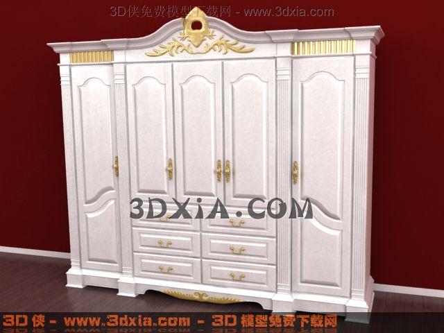 3d衣柜模型下载-4-使用版本3dmax8渲染效果图片