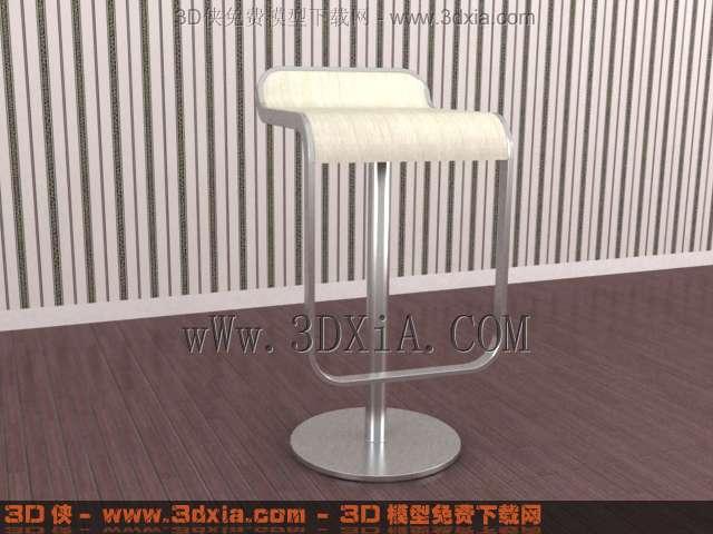 吧台椅模型_很时尚的吧台椅3d模型3d模型库3d侠3d模型