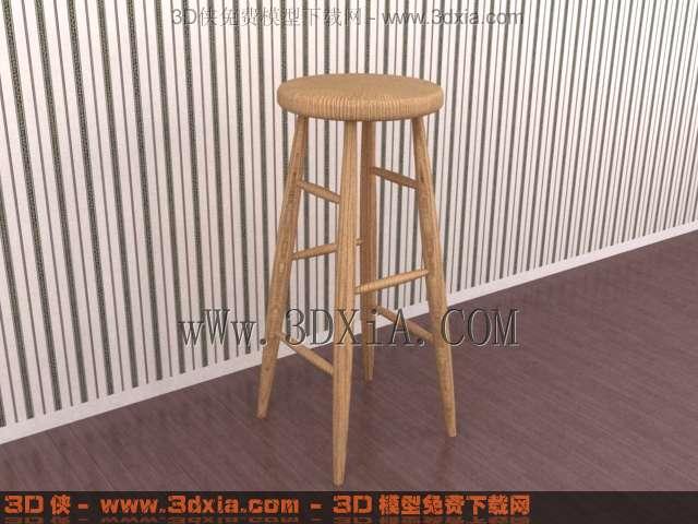 吧台椅模型_【3d吧台椅模型】吧台椅3d模型下载22468设