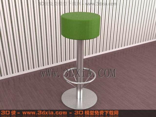吧台椅模型_吧台椅23D模型库3d侠3D模型下载网
