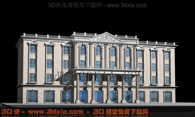 欧式办公大楼模型-07渲染效果图片
