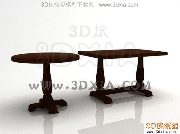 餐桌-3dmax2008-12
