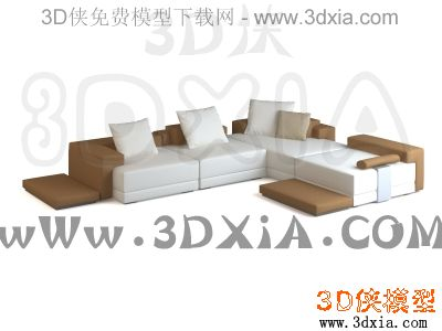 多人沙发-3DMAX9-FENDI CASA Domino composition