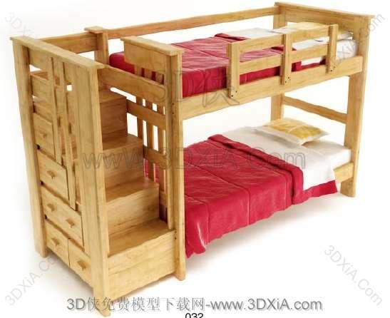 儿童床3d模型下载-版本3d9-32