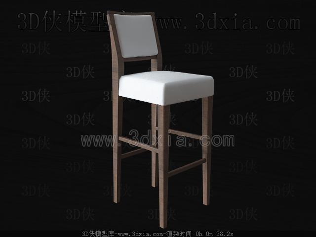 吧台椅模型_吧台椅63d模型库3d侠3d模型下载网