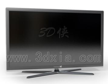 效果图素材免费下载,本作品主题是001-电视机3d模型下载-版本max2008