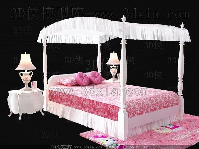 儿童床3d模型-版本2009-28