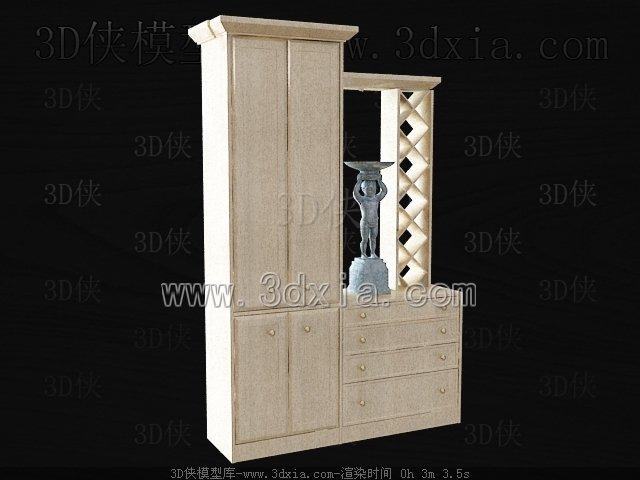 玄关鞋柜3d模型 版本2009 139 高清图片
