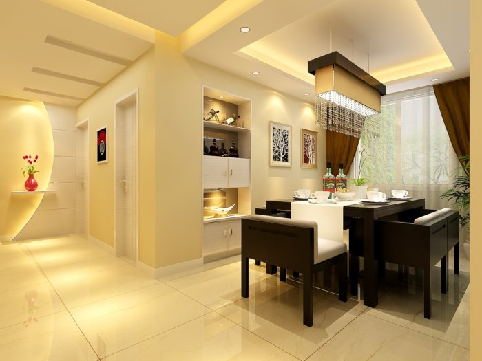家庭餐厅装修效果图-3d模型库-3d侠3d模型下载网
