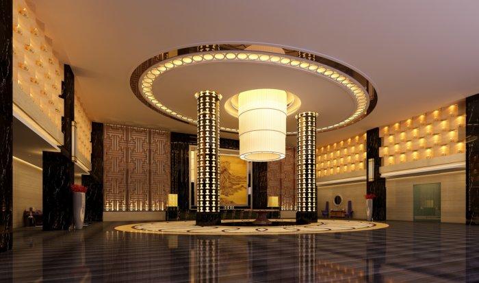 酒店大堂吊顶设计效果图图片