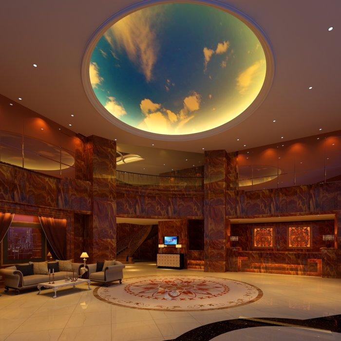 酒店大堂设计图渲染效果图片