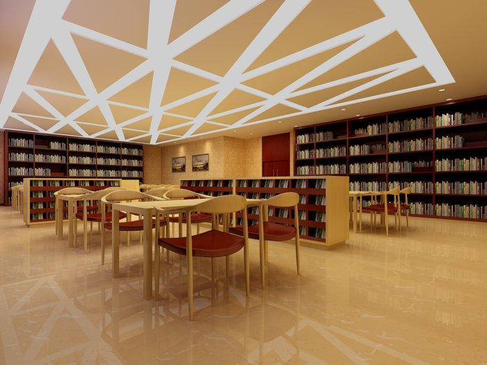 提供精美好看的  美容美发  效果图素材免费下载,本作品主题是图书馆