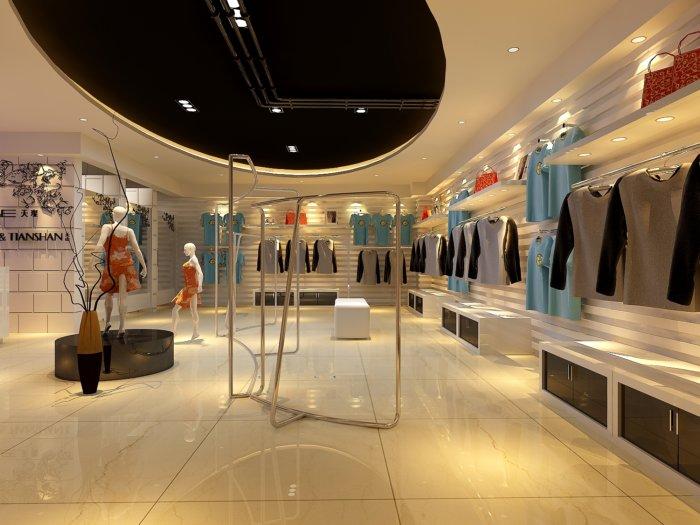 3d服装店效果图-3d模型库-3d侠3d模型下载网