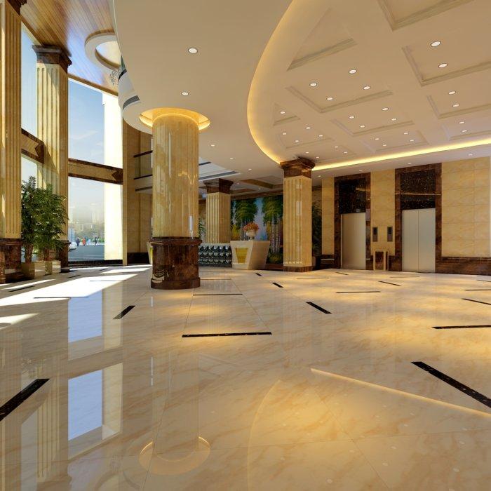 3d酒店大堂装修效果图渲染效果图片