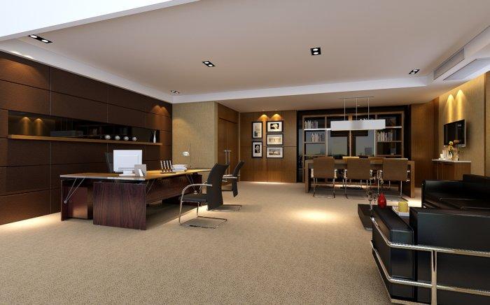 3d老板办公室模型渲染效果图片