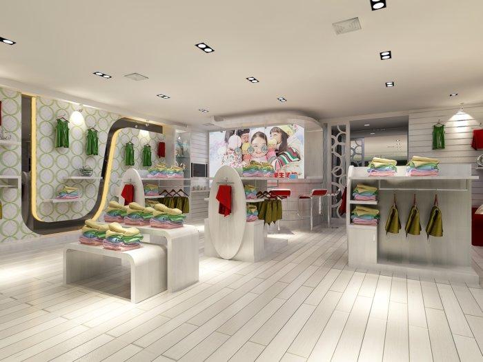 儿童服装店展区设计效果图-3d模型库-3d侠3d模型下载