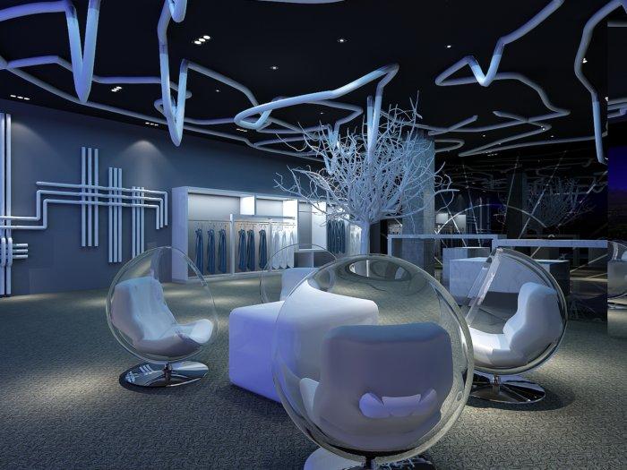 服装店设计3d模型-3d模型库-3d侠3d模型下载网