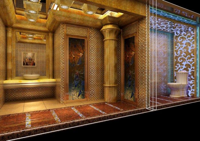 豪华欧式卫生间效果图-3d模型库-3d侠3d模型下载网